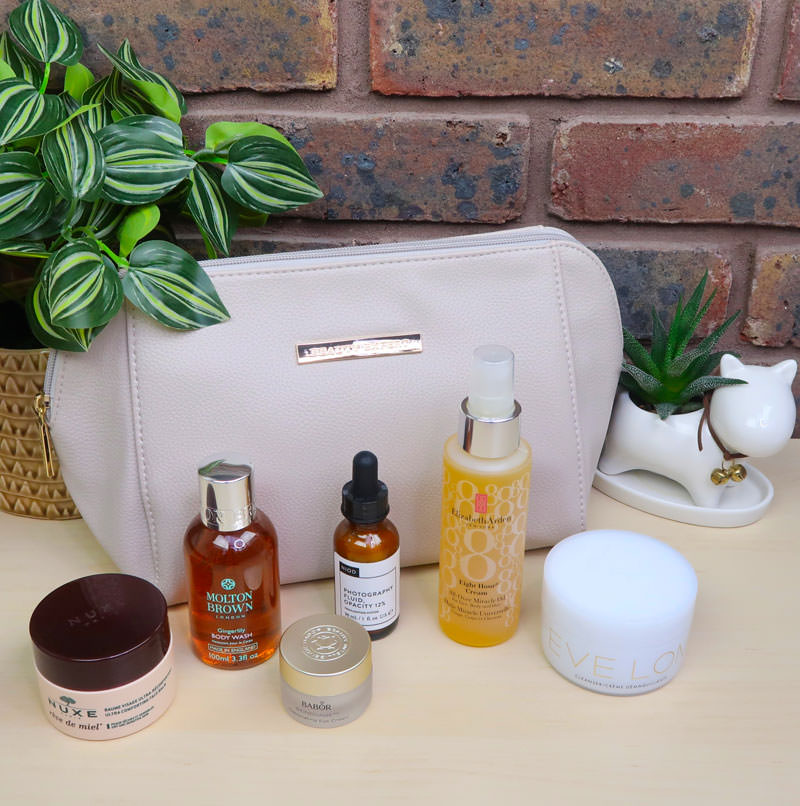 Washbag and 6 beauty products