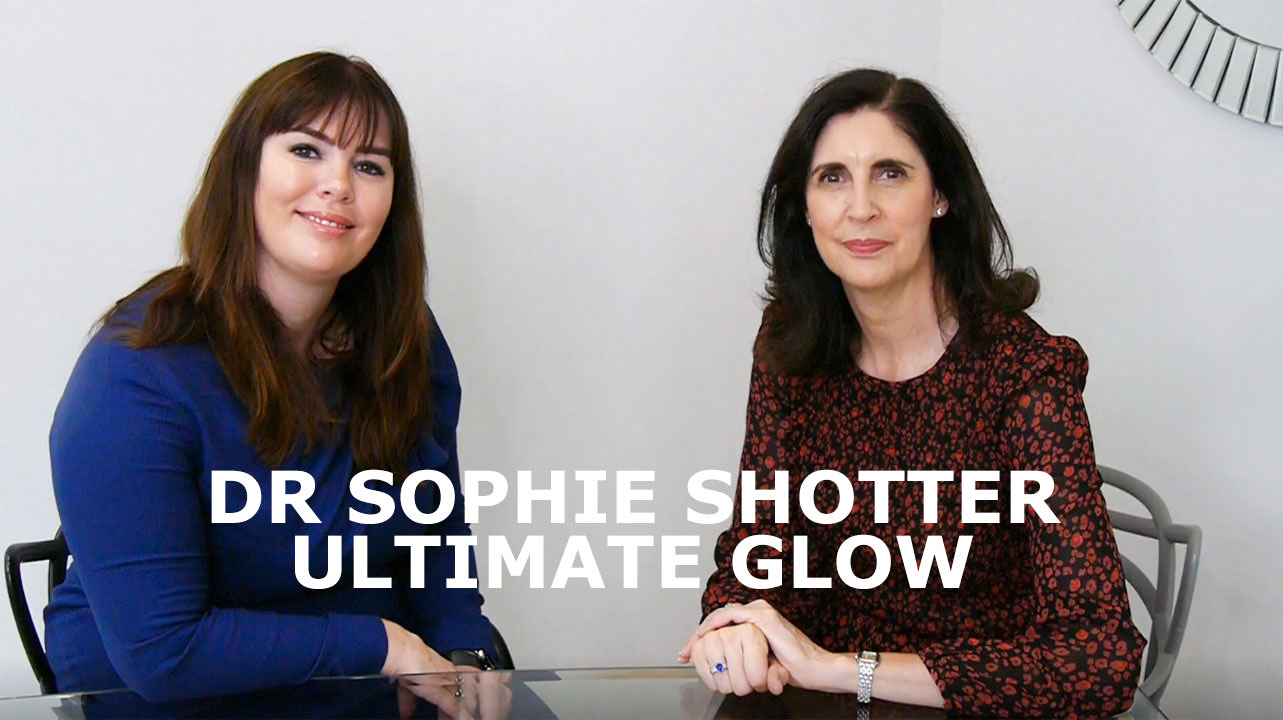 Dr Sophie Shotter and Tracey McAlpine discussing the Ultimat Glow treatment
