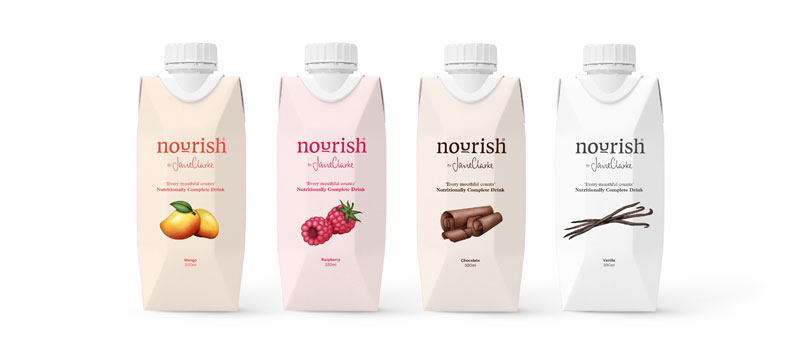 four cartons of Nourish for avoiding malnutrition